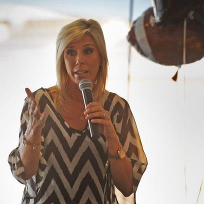 Guest speaker Sarah Thomas talks to the women attending