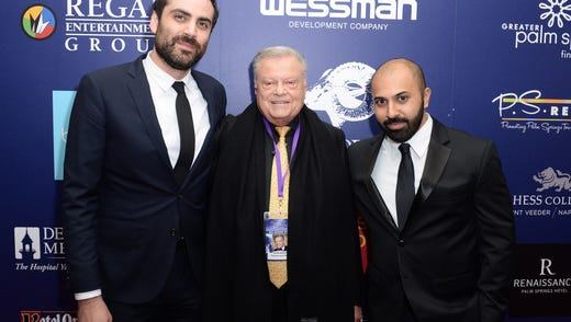 """Festival Chairman Harold Matzner and Artistic Director Michael Lerman with Ritesh Batra, the director of the Festival's opening night screening """"The Sense of an Ending"""" which has received much critical acclaim."""