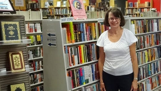 Jan Lehrack inside Thrifty Joe's Books & Music in north Glendale, which she opened in 1993.