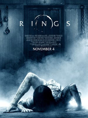 "The movie poster for ""Rings."""