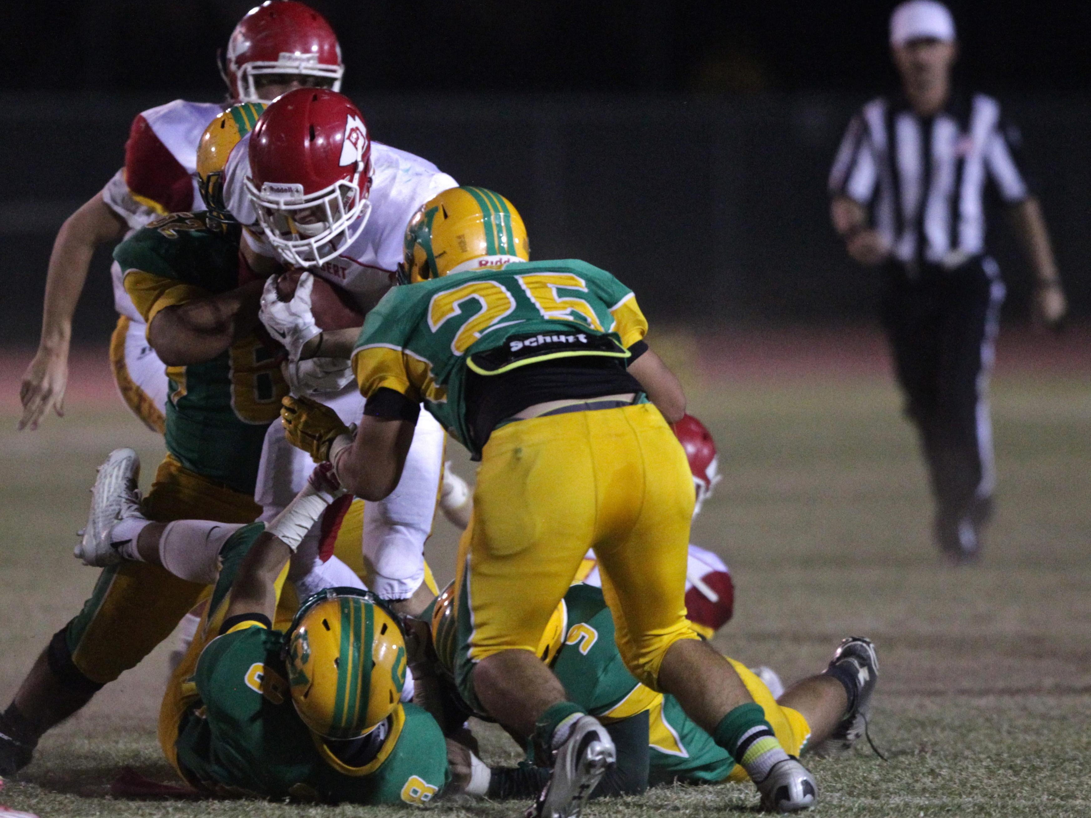 The Coachella Valley Arabs hosted the Palm Desert Aztecs for a football game on Friday.