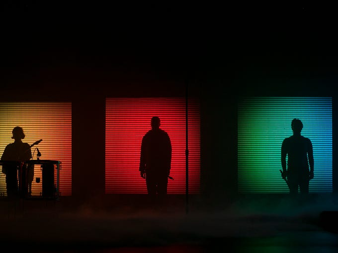 Imagine Dragons open their Evolve Tour launch, Tuesday,