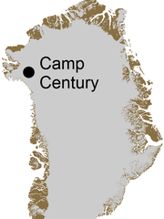 Camp Century was located in northern Greenland.