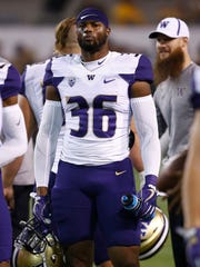 Washington linebacker Azeem Victor has spent more time on the sideline this year than he expected.