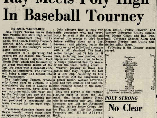 Ray opened in 1950 and made its first state baseball appearance in 1953.