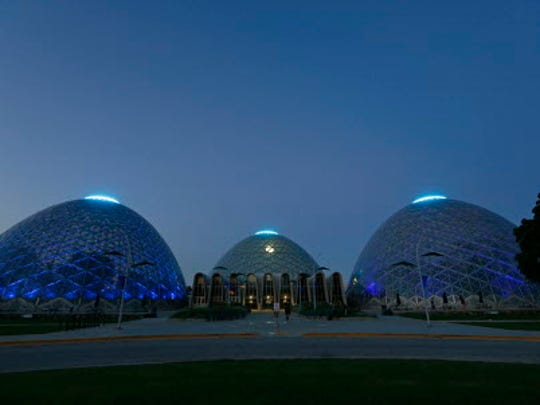 The Domes at the Mitchell Park Conservatory in Milwaukee.