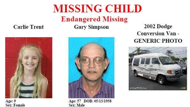 Carlie Trent was reported missing on May 4 and authorities are continuing to search for the child.