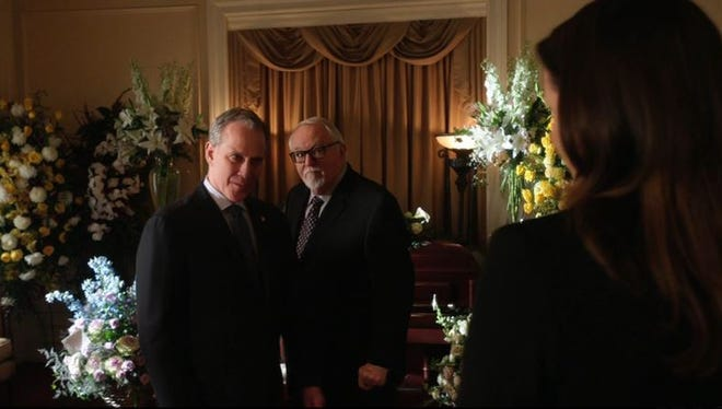 "New York Attorney General Eric Schneiderman, left, appeared on the Feb. 26, 2016, episode of ""Blue Bloods"" on CBS."