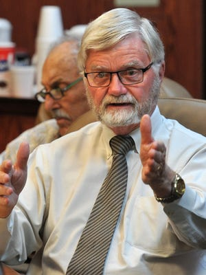 Shown in a file photo, Wichita County Judge Woody Gossom and county commissioners addressed budget issues Friday.