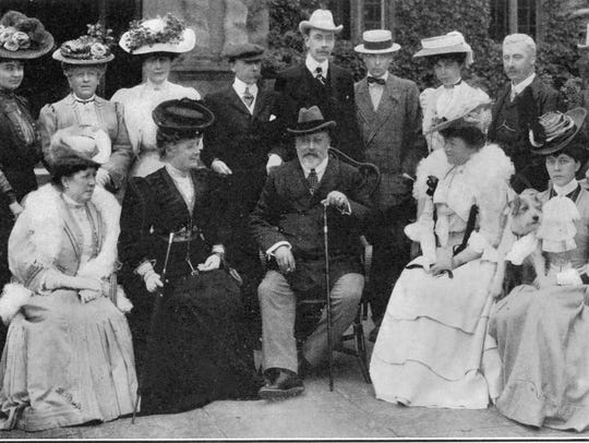 Edward VII in 1906, staying at Rufford House near Doncaster