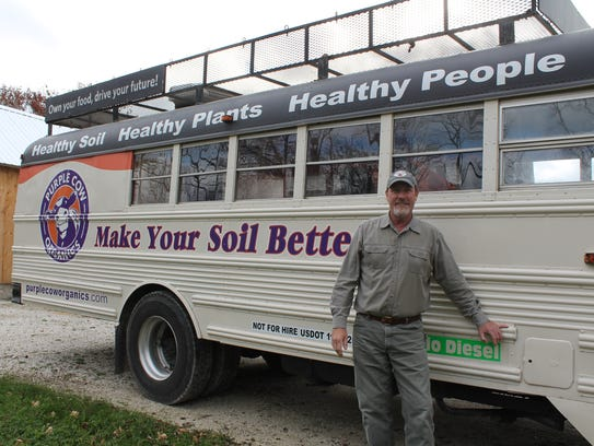 Sandy Syburg of Purple Cow Organics travels the country,