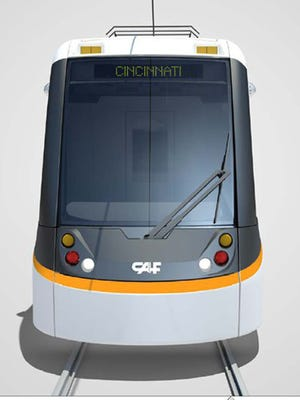 A rendering of Cincinnati's streetcar