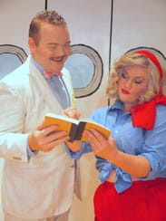 Sir Evelyn Oakley (Spencer Scruggs) and Reno Sweeney