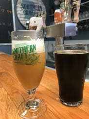 A few of the beers available on tap at Southern Craft