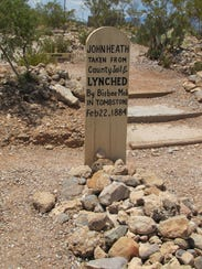 Grave markers tell many stories at Tombstone's Boothill