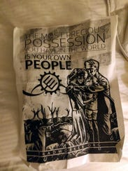 Ten of these flyers advocating for the white nationalist
