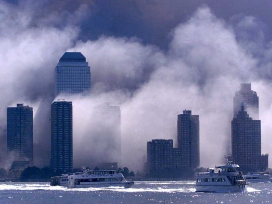 Boats ferrying survivors of the Sept. 11 terrorist