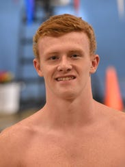 Wayne Valley swimmer Evan Custance at a competition