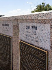 Doña Ana County residents who fought for the Union Army are remembered on the Veterans Wall at Veterans Memorial Park in Las Cruces.