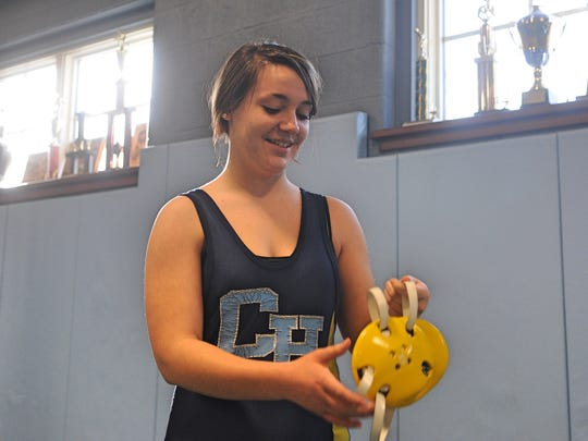 Cape Henlopen senior Brianna Woodward wrestled for the Vikings for four years after starting her career in eighth grade at Mariner Middle School.