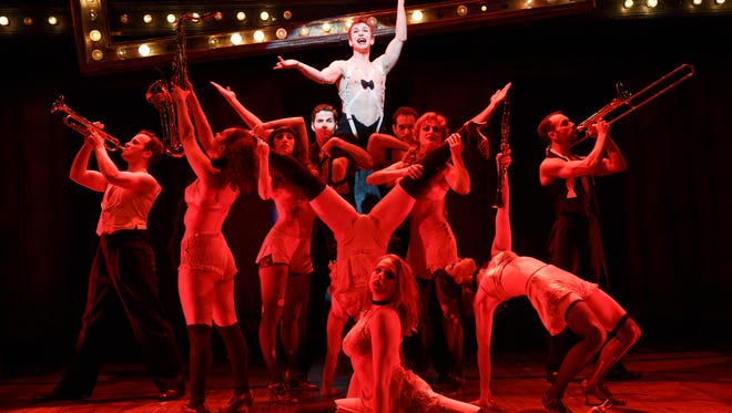 The cast of Cabaret, showing at the Wharton Center in East Lansing.