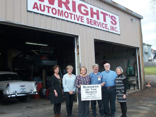 Elbert County Chamber of Commerce named Wright's Automotive Service Inc. as its Business of the Month.