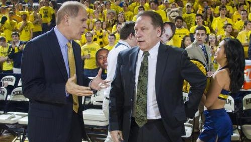 Tom Izzo is going for his second straight win at U-M after losing three straight at Crisler from 2011-14