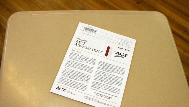 A copy of the ACT assesment test at Roosevelt High School.
