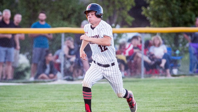 Wapahani faces off against Lapel during their game at Frankton High School Thursday, May 24, 2018.