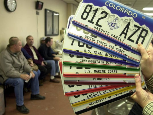 Colorado dmv issued duplicate license plates for Motor vehicle department denver