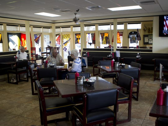 The interior of the Iowa Cafe at its location on 1129