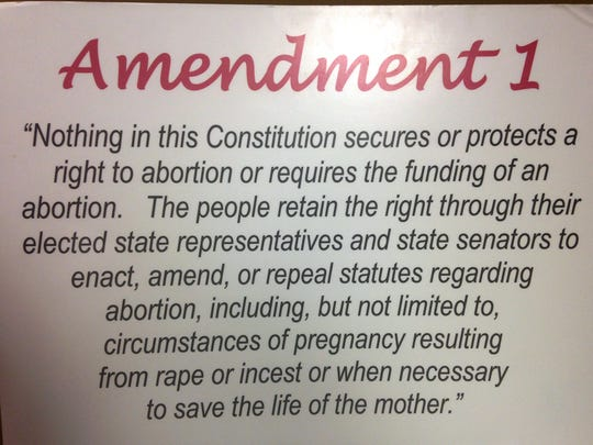 If enough people vote for Amendment 1 during the November election, this is what the new amendment will look like.