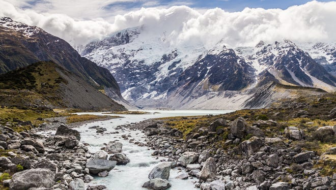 The Hooker River in New Zealand.