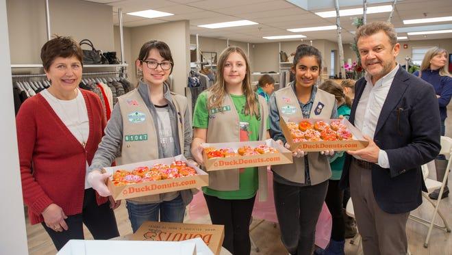 From left: Faina Shapiro, co-owner of Diamond Dream; Nina Robles of Bernardsville;Audrey Panik of Bernardsville; Meera Singn of Basking Ridge; and Edward Shapiro, co-owner of Diamond Dream.