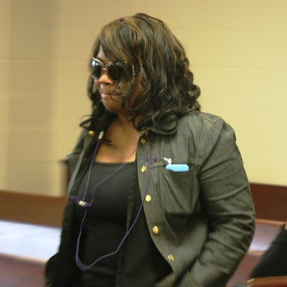 Liz Rogers walks into a Butler County court Tuesday