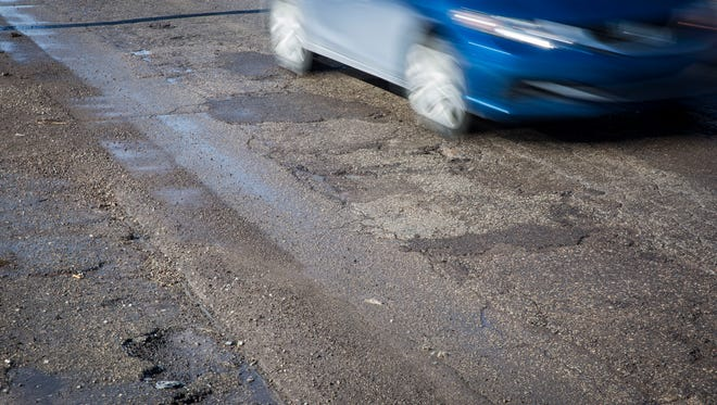 A portion of West Jackson Street, leading up to the traffic roundabout at Morrison Road, has been paved, with more paving to come, the city says.