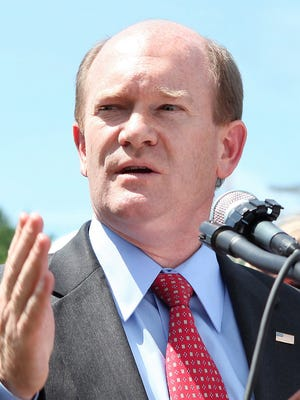 U.S. Sen. Chris Coons (D-Del.) is one of four member of Congress named legislator of the year Wednesday by the Biotechnology Industry Organization.