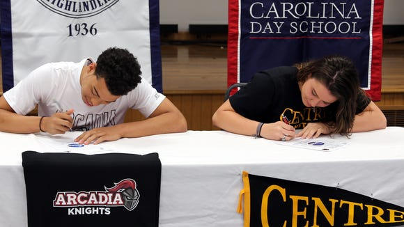 Carolina Day seniors Tyson Sellers and Cheyenne Bunner have signed to play college basketball.