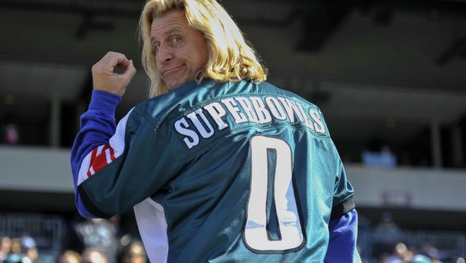 Joe Ruback wore a jersey mocking the Eagles' lack of championships on Sunday.