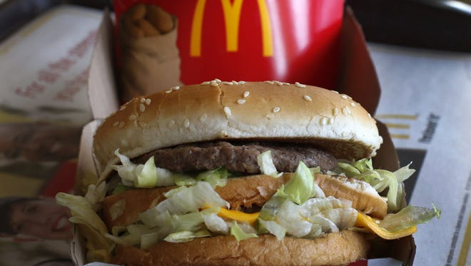 McDonald's Big Mac sandwich is photographed at a McDonald's restaurant in Robinson Township, Pa., on Jan. 21.