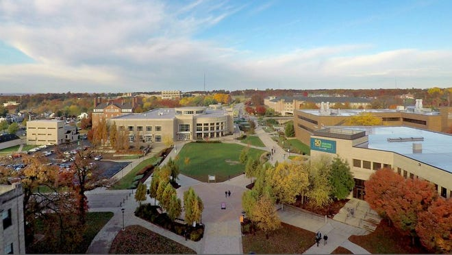 An aerial photo of the Missouri S&T campus.