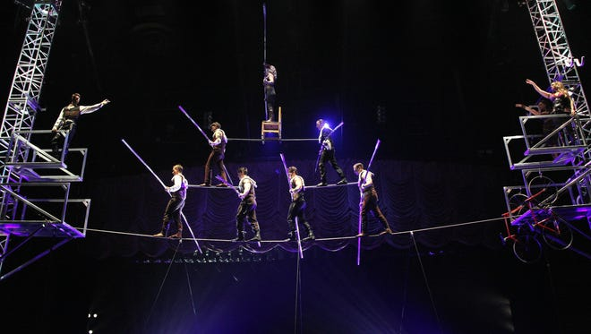 The famous Wallenda pyramid.
