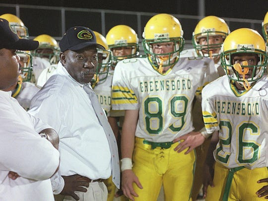 Longtime football coach Robert Jackson coaches up Greensboro High before a game against Wakulla. Greensboro became West Gadsden in 2004 with the addition of Chattahoochee High School. Jackson retired in 2008 after 30 years in the Gadsden County School system.
