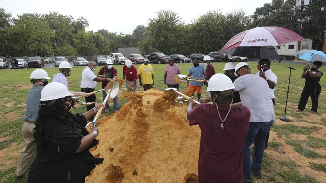 The leaders and members of Mount Pilgrim Baptist Church broke ground for a new sanctuary Saturday. Their church building was destroyed by fire in March 2019.