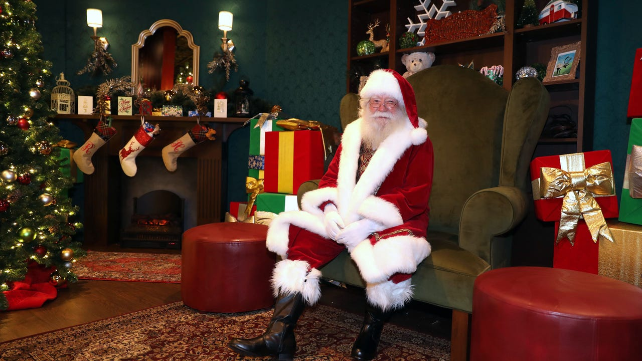 "A new attraction at Ridge Hill in Yonkers, called ""Twinkling Lights on the Hill"" is open for the season. Here you will find Santa in his new cottage on the Town Square and a nighttime synchronized display of lights and music. (Video by Mark Vergari/lohud)"