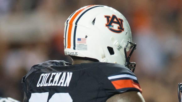 Auburn left tackle Shon Coleman is projected to be one of the top five offensive tackles in the 2016 draft.