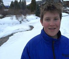 Evan Thompson, 13, on vacation in Colorado.