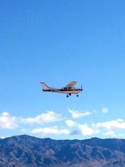 Henry Harper of Aviation of Mesquite flying the Mesquite