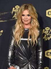 Natalie Stovall on the red carpet at the 2018 CMT Awards