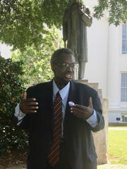 """State Sen. Hank Sanders: """"This statue needs to be removed, just as it was in New York. Sims lived here in Montgomery, and it was in Montgomery that he did these operations on enslaved women without any anesthesia. They said white women couldn't stand the pain, but they decided black women could."""""""